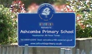 Ashcombe Primary School Sign