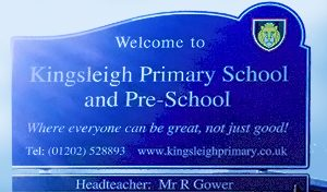 Kingsleigh Primary School and Pre-School Sign