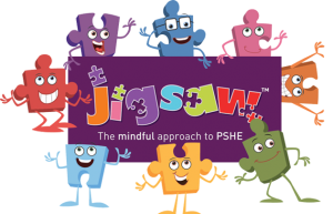 Jigsaw PSHE logo with jiggies