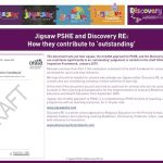 Thumbnail - Jigsaw and Discovery RE contribution to an Outstanding OFSTED grade