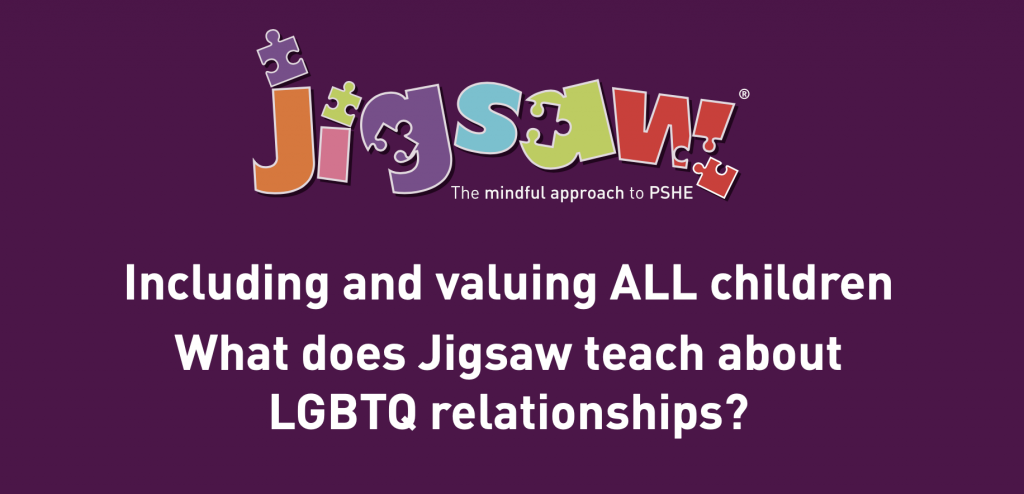 What does Jigsaw PSHE teach about LGBTQ relationships